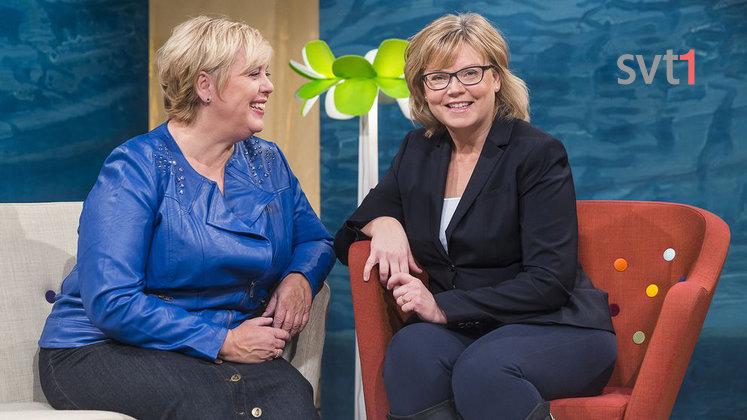 Fråga Doktorn i SVT med Suzanne Axell och Gunilla Hasselgren.